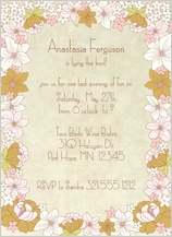 Bachelorette Party Invitation - tiny floral bachelorette party invite