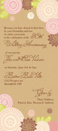 Anniversary Party Invitation - kimono floral anniversary party invite
