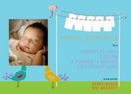 Birth Announcement with photo - high fashion