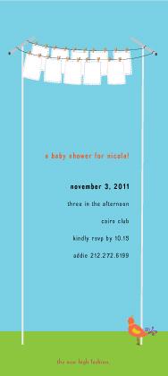 Baby Shower Invitation - high fashion