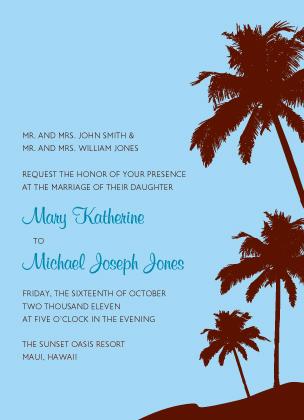 Wedding Invitation - Tropical Paradise