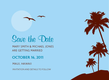 Save the Date Card - Paradise in the Sky