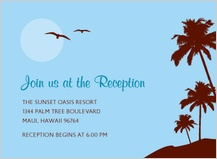 Reception Card - paradise in the sky