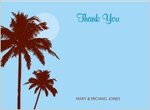 Wedding Thank You Card - paradise in the sky