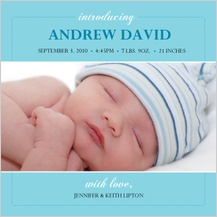 Birth Announcement with photo - elegant arrival