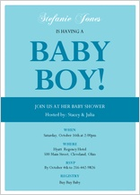 Baby Shower Invitation - elegant arrival