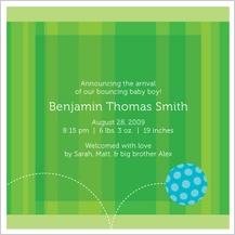 Birth Announcement - baby ball