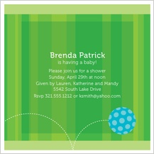 Baby Shower Invitation - baby ball