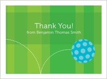 Baby Thank You Card - baby ball