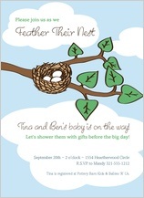 Baby Shower Invitation - nest