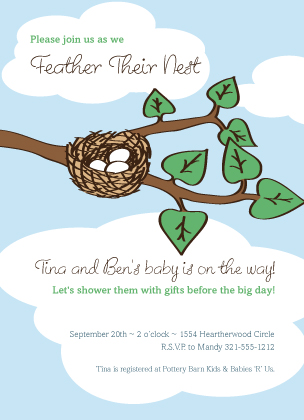 Baby Shower Invitation - Nest
