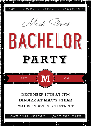 bachelor party invitations & announcements by looklovesend, Party invitations