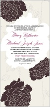 Wedding Invitation - rose garden