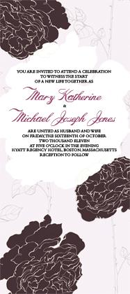 Wedding Invitation - ROSE GARDEN