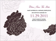 Save the Date Card - rose garden