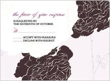 Response Card - rose garden