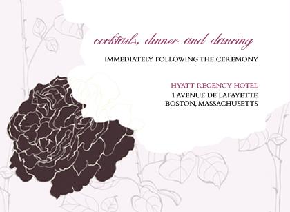 Reception Card - ROSE GARDEN