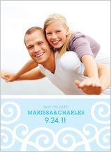 Save the Date Card with photo - chanson
