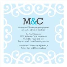 Wedding Shower Invitation - chanson