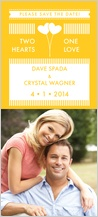 Save the Date Card with photo - so happy together: two hearts