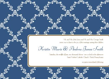 Wedding Invitation - Lattice Vines