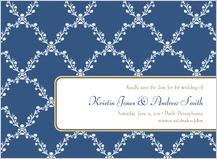 Save the Date Card - lattice vines
