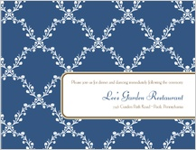 Reception Card - lattice vines