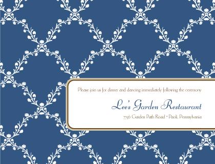 Reception Card - Lattice Vines