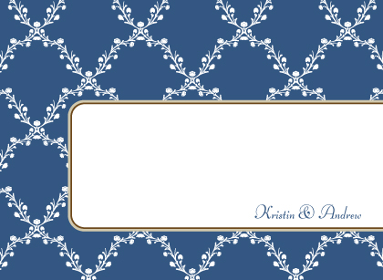 Wedding Thank You Card - Lattice Vines