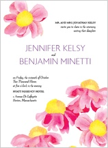 Wedding Invitation - bright daisies