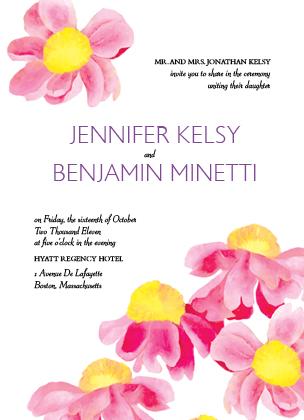 Wedding Invitation - BRIGHT DAISIES