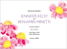 Save the Date Card - bright daisies