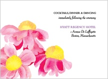 Reception Card - bright daisies