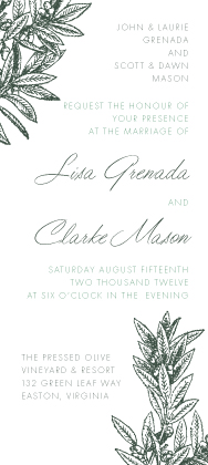 Wedding Invitation - The Pressed Olive