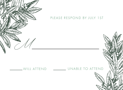 Response Card - The Pressed Olive