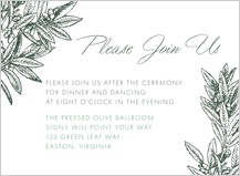 Reception Card - the pressed olive