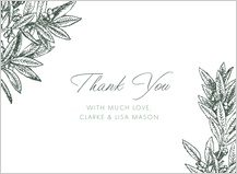 Wedding Thank You Card - the pressed olive