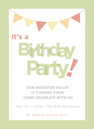 Birthday Party Invitation - Summer Party