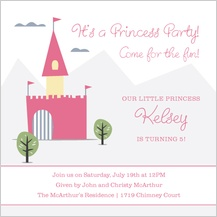 Birthday Party Invitation - princess party