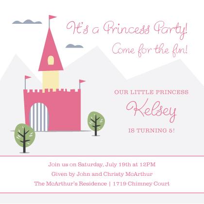 Birthday Party Invitation - Princess Party