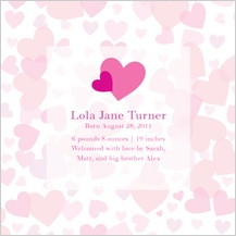 Birth Announcement - heart shower