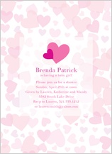Baby Shower Invitation - heart shower