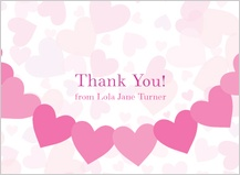 Baby Thank You Card - heart shower