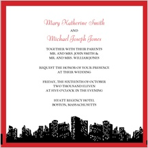 Wedding Invitation - urban chic