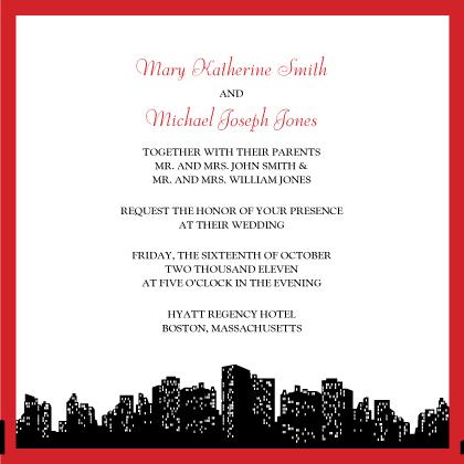 Wedding Invitation - Urban Chic