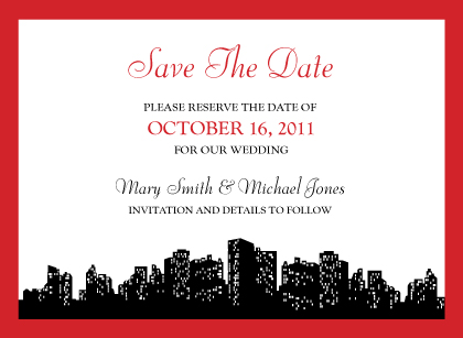 Save the Date Card - Urban Chic