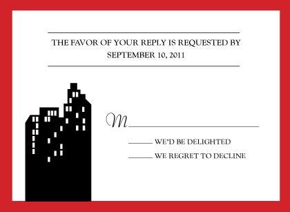 Response Card - Urban Chic