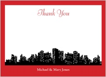 Wedding Thank You Card - urban chic