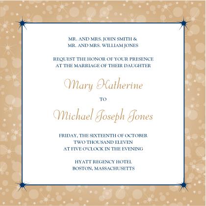 Wedding Invitation - Magical