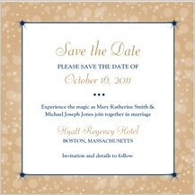 Save the Date Card - magical